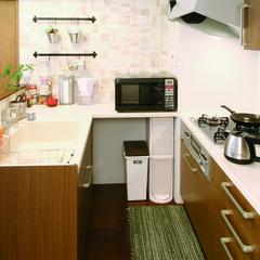 アンティーク/タイル/インテリア/対面キッチン/オープンキッチン/トクラス/... 限られたスペースに効率よく設えたキッチン…