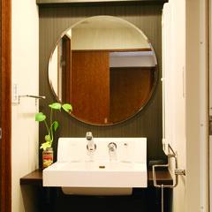 モダン/インテリア/洗面所/洗面化粧台/LIXIL/イケア/... オープンスタイルの洗面化粧台で予算は抑え…(1枚目)