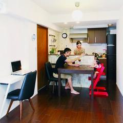 アンティーク/タイル/インテリア/対面キッチン/オープンキッチン/トクラス/... 中古マンション購入のお施主様。数社にプラ…