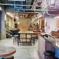 テーブルコーディネート/壁紙/家具/おしゃれ/カフェ/フォロー大歓迎/... とあるおしゃれカフェ☕ こんなひとときも…(1枚目)
