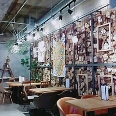 テーブルコーディネート/壁紙/家具/おしゃれ/カフェ/フォロー大歓迎/... とあるおしゃれカフェ☕ こんなひとときも…(3枚目)
