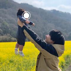 小さい春 パパとの写真も載せとこう〜𓂂𓐍𓏸 一面真…