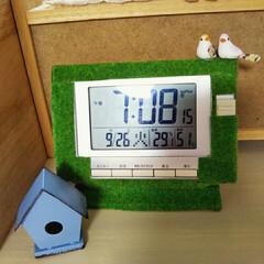 リメイク/デジタル時計/DIY/雑貨/100均/セリア デジタル時計が無機質で気になったので、S…