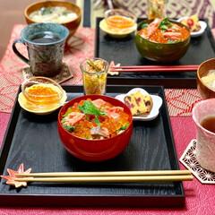 わたしのごはん/はらこ飯/いくら/和食/夜ごはん 主人が鮭、いくらが大好きなので 知り合い…