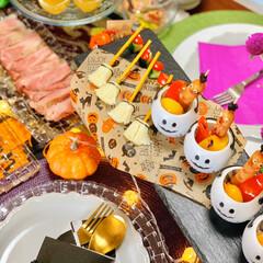 ハロウィンごはん/ハロウィン料理/おうちハロウィン/ハロウィンパーティ/ハロウィン2019 大好きなお友達を招いて、 初めておうちで…