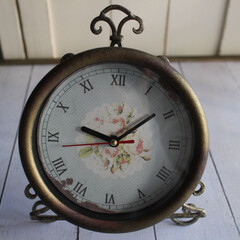 時計/キャンドゥ/100均/シャビーシック/フレンチシック/ラブリー/... キャンドゥで見つけた壁掛け時計を シャビ…