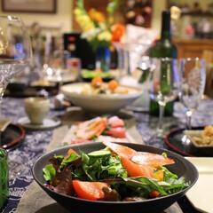 ワイン/ホムパ/テーブルセッティング/益子焼/笠間焼 益子焼と笠間焼の陶器でいただくお料理 I…