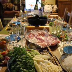 ワイン/和牛/都城市/ふるさと納税/すき焼き/ホムパ/... 和牛すき焼きを食べるための食卓