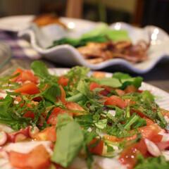 蛸/サラダ/カルパッチョ/ワイン/お家バル/つまみ 蛸のカルパッチョ お家バルメニュー🍷 薄…