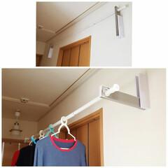 部屋干しアイテム/梅雨の洗濯/梅雨/梅雨対策/雨対策/梅雨対策アイテム/... 部屋干しにとっても便利! 石膏ボードに取…