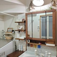 ソープディッシュ/メイクルーム/洗面所大公開/洗面道具/洗面所は綺麗に使おう/洗面所収納/... DIYをたくさんした洗面所です♪ リメイ…