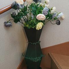 手作りインテリア/DIY/セリア/インテリア セリアでモノトーン造花を見つけました! …