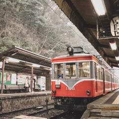 お出かけワンショット/箱根/宮ノ下駅/旅行/冬/雪/... 雪の中も休まず…
