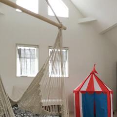 2階/ワンフロア/ハンモックチェア/陽当たり/おうち自慢 我が家の2階です。 こどもがまだ小さいの…(1枚目)