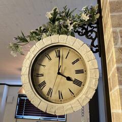 DIY/リビングあるある/両面時計 材料 掛け時計ピアトラ HW……ニトリ …
