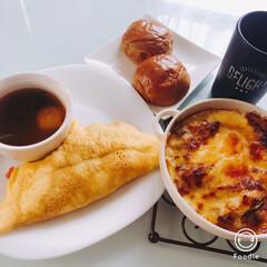 朝ごはん/料理/野菜炒め/晩ご飯/残りモノ/簡単/... 野菜炒め残りで、 ガッツリ系朝ごはん  …