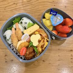 スケーター 抜き型 野菜用 2種類入 トミカ | トミカ(弁当箱)を使ったクチコミ「年少息子のお弁当 フルーツは絶対」