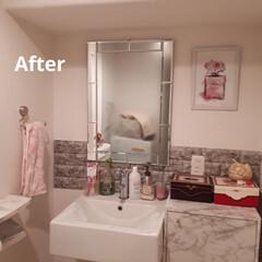 おうち自慢 バスルームのDIY テーマはホテル。 鏡…(2枚目)
