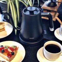 BALMUDA The Pot K02A-BK ブラック | BALMUDA(電気ケトル)を使ったクチコミ「今日のおうち時間は娘から誕生日プレゼント…」(3枚目)