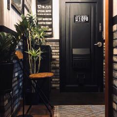 玄関マット/団地の玄関/団地DIY/団地インテリア/団地暮らし/男前インテリア/... 玄関マットを新しくしました。
