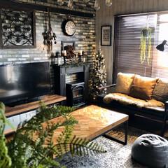 クリスマスツリー/暖炉型ヒーター/フェイクグリーン/マントルピース/団地暮らし/団地インテリア/... 今日は午後から久しぶりに娘が帰って来るの…