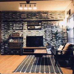 コンクリート風壁紙/beforeafter/団地インテリア/団地DIY/IKEA/男前インテリア/... 少しずつ進めて来た家のシンプル化をBef…