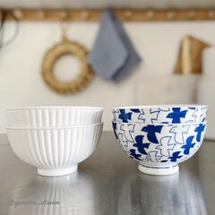 ダイソー/ダイソー食器/100均食器/100均/北欧/茶碗 ダイソーでお茶碗を買いました。白いのは大…(1枚目)