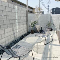 庭/エクステリア/ガーデン/庭のある暮らし/外構 小さな庭。タイルデッキがメインの我が家の…