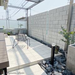 庭/エクステリア/ガーデン/庭のある暮らし 逆側から撮ってみました。タイルデッキのま…