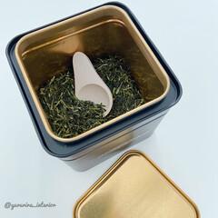 珪藻土/珪藻土スプーン/IKEA/お茶缶/ティーキャニスター 日本茶の茶葉は湿気が苦手なので、珪藻土で…