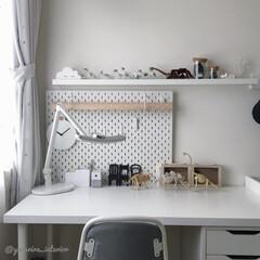 子供部屋/男の子部屋/IKEA/IKEA机/学習机/卓上ライト/... 長男の部屋。部屋の家具や雑貨はほとんどI…