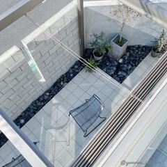 庭/庭のある暮らし/エクステリア/ガーデンライフ/小さな庭/エクステリアデザイン 2階ベランダから見た庭です。小さな庭で、…