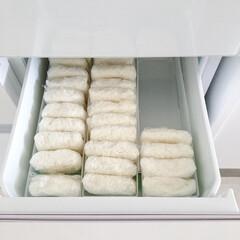 冷凍庫収納/冷蔵庫収納/冷凍ご飯/セリア/セリア収納/100均収納/... 冷凍ご飯を並べるとこんな感じです。この冷…