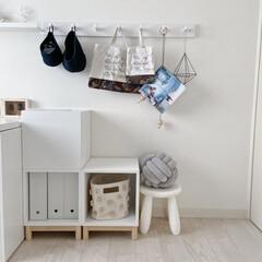 IKEA/イケア/学用品収納/モノトーンインテリア/北欧インテリア/海外インテリア/... 小学生の子供の学用品収納のアイデアを投稿…