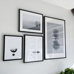 IKEA/ポスター/ポスターフレーム/モノトーン/イケア/モノトーンインテリア/... アイデアに愛用しているIKEAのポスター…