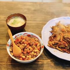 身体に優しい/おかず/男の料理/ダイニングテーブルDIY/大豆/晩御飯/... 毎日食卓にある、優しいお味のお豆さんの煮…
