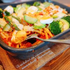 グラタン/夕ご飯/あつあつ/ふうふう/野菜/たっぷり/... テレビで観た、野菜のトマト煮グラタンがと…