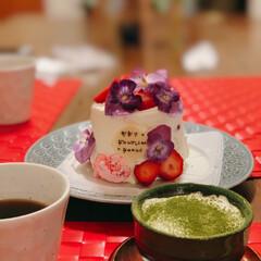 珈琲/ティラミス/抹茶/手作り/サプライズ/誕生日パーティー/... 三月生まれのお友達にサプライズ🎂 作って…