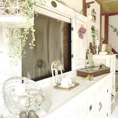 かご/アンティーク/キャンドル/IKEA/ぶた/紙粘土/... ほぼ手作りの玄関( ´͈ ᗨ `͈ ) …