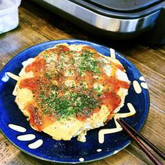 お料理男子/手作り/パパ/晩御飯/家飲み/お好み焼き/... 平成最後の晩御飯は、パパちゃんが作ってく…