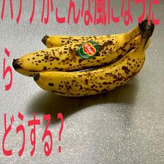 冷凍食材/冷凍庫収納/フリーザー/冷凍庫管理/冷凍保管/バナナ/... 熟れ熟れになったバナナをカットして ジッ…