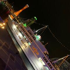 夫婦/デート/サンタクロース/クリスマス/Xmas/フェリー/... 元町、三宮で買い物した後 モザイクへお散…