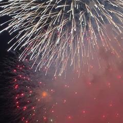 飾磨港/夏祭り/花火/みなと祭り/おでかけワンショット みなと祭りにパパと 行きは電車で🚃🚋💭 …