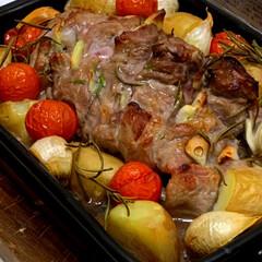 グリル焼き/野菜/お肉/男の料理/女子会/食事情/... さっきの女子会のメインはお肉と野菜のグリ…