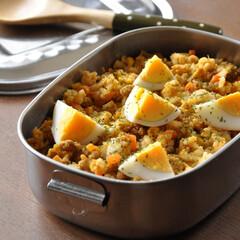 ラクチン/ごはん弁当/カレーごはん/長続き/お弁当/キッチン カレーごはん弁当。 おかずを考えるのが大…(1枚目)