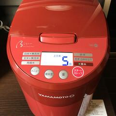 山本電気 YE-RC41R レッド Bisen 〜美鮮〜 家庭用精米機(5.5合炊き) 自宅用 小型 日本製 YERC41R   山本電気(精米機)を使ったクチコミ「だんだんと「ごはん」が好きになり、好きに…」
