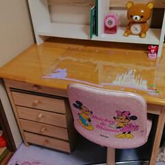 感謝/ありがとう/手作り/引き出し/棚/リメイク/... 学習机。 私が使っていたのをじいじが綺麗…