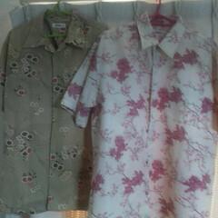 着物リメイク/アロハシャツ/おしゃれ/暮らし/お家でもオシャレ 何年か前にバザーで見つけたアロハシャツ👚…(1枚目)