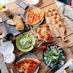 カルパッチョ/アボカドディップ/ピザ/冷製パスタ/蔵前散歩/蔵前/... 昨日は家に友達を招待して、10人くらいで…