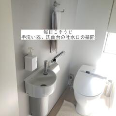 ポイントブラシ/ウタマロクリーナー/手洗い器/洗面台/吐水口の掃除/毎日こそうじ/... こんばんは😃🌃 . . 今日のこそうじは…